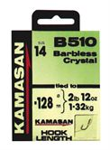 Kamasan HOOKS TO NYLON B510 Crystal BARBLESS