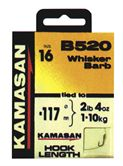 Kamasan HOOKS TO NYLON B520 Whisker BARBED