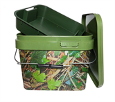 CAMO SQUARE 10lt Bucket With Tray