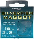 Drennan HOOKS TO NYLON BARBLESS Silverfish Maggot