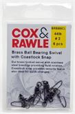 Cox & Rawle Brass Ball Bearing Swivel With Coastlock Snap
