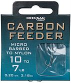 Drennan HOOKS TO NYLON BARBED Carbon Feeder