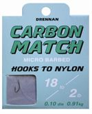 Drennan HOOKS TO NYLON BARBED Carbon Match