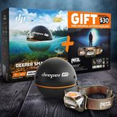 Deeper Pro Plus & Petzl Tikka Headlight