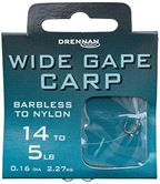 Drennan HOOKS TO NYLON BARBLESS Wide Gape Carp