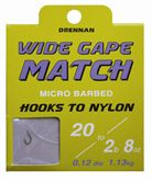 Drennan HOOKS TO NYLON BARBED Wide Gape Match