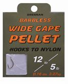 Drennan HOOKS TO NYLON BARBLESS Wide Gape Pellet
