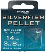 Drennan HOOKS TO NYLON BARBLESS Silverfish Pellet