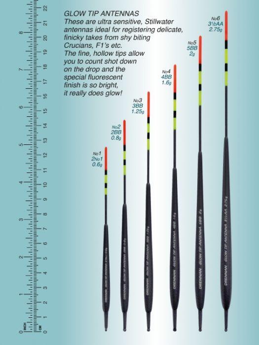 Drennan Glow Tip Antenna Floats 163 1 85