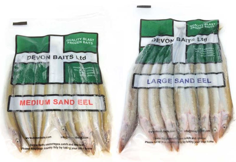 Devon Baits Frozen Sand Eels (Medium)