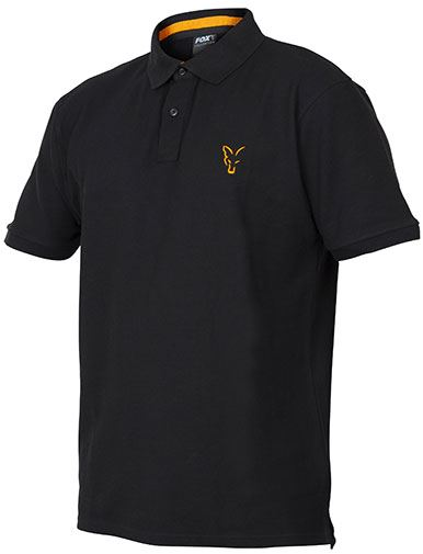 Fox Collection Black/Orange Polo Shirt