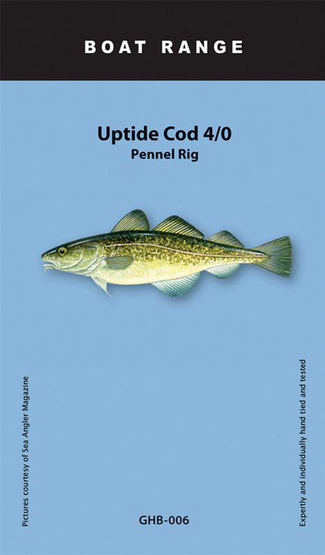 Greys boat uptide cod 4 0 pennel rig for Cod fishing rigs