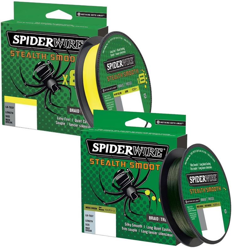 Spiderwire Stealth Smooth 12 Braid Moss Green 150m Braided line NEW 2020