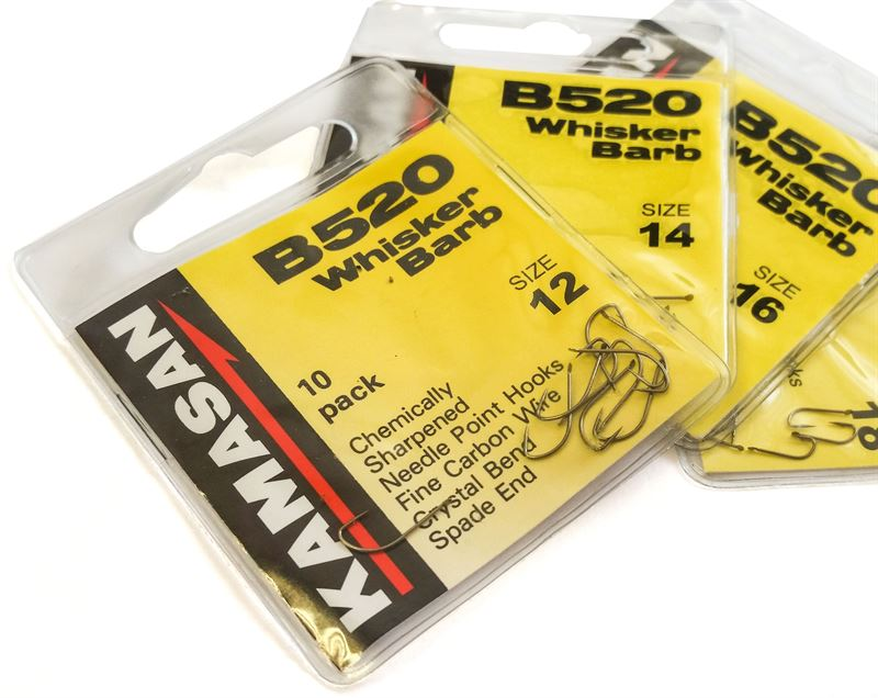 Kamasan B520 Whisker Barbed Hooks Various Sizes