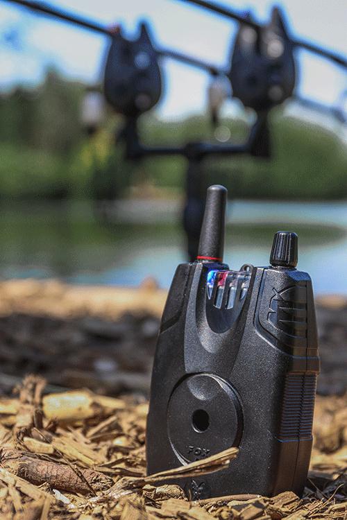 CEI191 Fox NEW Micron MX Carp Fishing Bite Alarm 2 Rod Set Multi Coloured LED