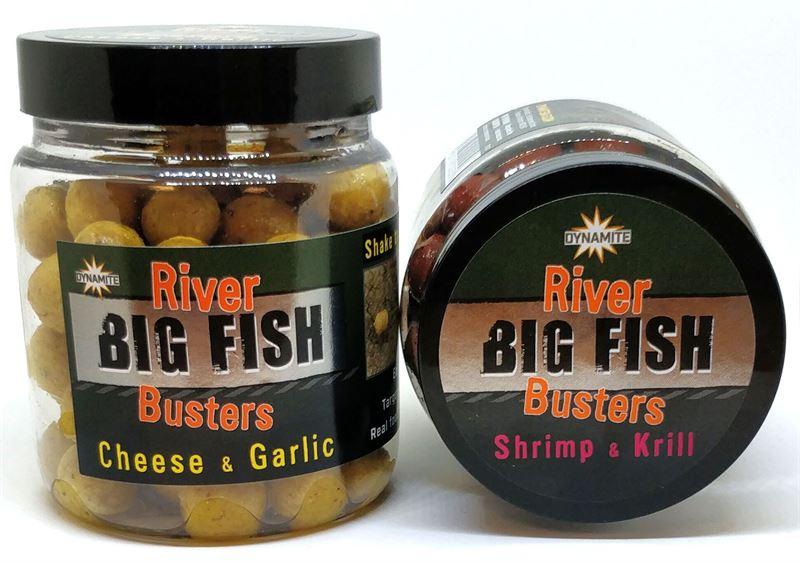 Dynamite Big Fish River Hookbaits Cheese and Garlic Busters Dumbells Baits
