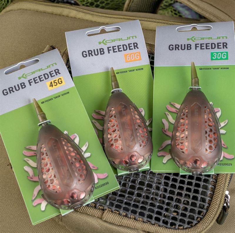 Maggot-Feeder Korum Grub Feeders 30+60 Gramm Feederrute Maden-Futterkorb
